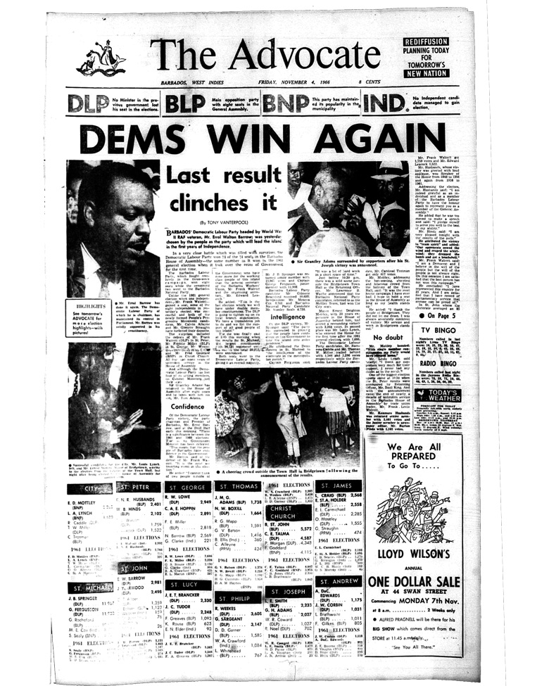 1966 Election Results Are Back!